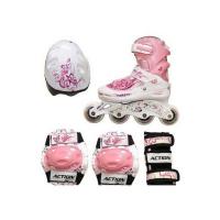 Набор: коньки ролик, защита, шлем Action р. 34-37