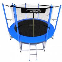 Батут i-Jump 10ft 3,06м с нижней сетью и лестницей (blue)