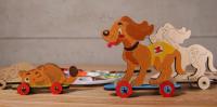 Конструктор 3D-пазл UGEARS 4kids - Котёнок и щенок