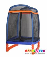 Батут детский 120х120 см Moove&Fun с защитной сеткой