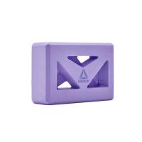 Кирпич для йоги с прорезями Reebok фиолетовый