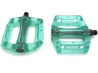 """Педали KAMIGAWA z-0911,DH/BMX. Материал: полимер, ось crmo, 9/16"""". Размер: 100х110х28мм. Вес: 195г. Цвет: прозрачный темно-зеленый"""
