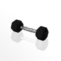 Гантель гексагональная Original Fit.Tools обрезиненная FT, 6 кг