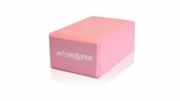 Блок для занятий йогой Moove&Fun розовый