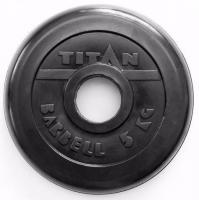 Диск обрезиненный TITAN черный 5 кг (51 мм)