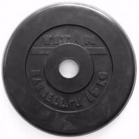 Диск обрезиненный TITAN черный 15 кг (51 мм)