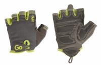 Перчатки женсике для занятия фитнесом GoFit cеро-зеленые