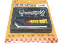 Велоаптечка THUMBS UP заплатки, 2 металлические монтажки, ниппельная резинка, накидной ключ 10размеров, клей