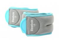 Утяжелители на лодыжки Reebok Elements 0,5 кг серо-голубые (пара)