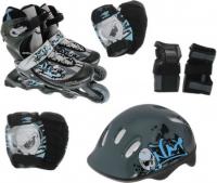 Набор: коньки ролик, защита, шлем Action р.26-29
