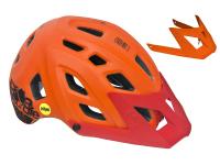 Шлем велосипедный Kellys RAZOR Juicy Orange Mips, S/M (54-57cm), 23 отверстия, платформа для камеры, дополнительный козырёк
