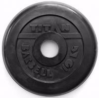 Диск обрезиненный TITAN черный 10 кг (51 мм)