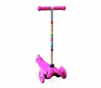 Самокат трехколесный MINI LED Moove&Fun розовый