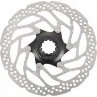 Тормозной диск велосипедный Shimano RT30 180мм, C.Lock, для пластиковых колодок ASMRT30M