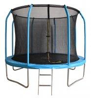 Батут Bondy Sport 8 ft 2,44 м с сеткой и лестницей (синий)