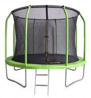 Батут Bondy Sport 8 ft 2,44 м с сеткой и лестницей (зеленый)