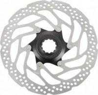 Тормозной диск велосипедный Shimano RT30, 160мм, C.Lock, только для пласт колод ESMRT30