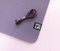 Мат Original Fit.Tools для йоги 6 мм двухслойный темно-фиолетовый светло-фиолетовый