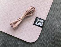 Мат Original Fit.Tools для йоги 6 мм двухслойный темный абрикос-черный
