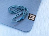 Мат Original Fit.Tools для йоги 6 мм двухслойный темно-синий светло-синий