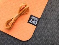 Мат Original Fit.Tools для йоги 6 мм двухслойный оранжевый-черный