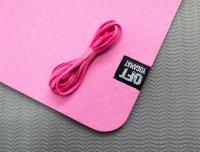 Мат Original Fit.Tools для йоги 6 мм двухслойный розовый-серый