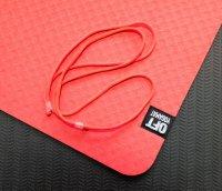 Мат Original Fit.Tools для йоги 6 мм двухслойный красный-черный