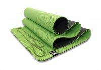 Мат Original Fit.Tools для йоги 6 мм двухслойный перфорированный зеленый