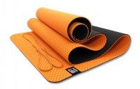 Мат Original Fit.Tools для йоги 6 мм двухслойный перфорированный оранжевый