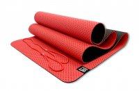 Мат Original Fit.Tools для йоги 6 мм двухслойный перфорированный красный