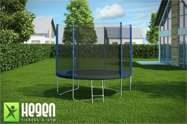Батут с внешней сеткой и лестницей Hegen External 8 ft (244 см)