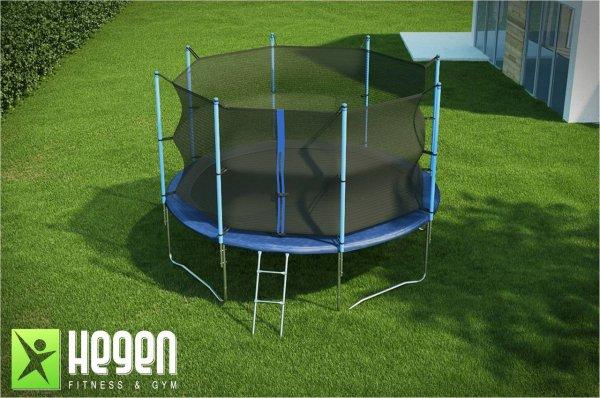 Батут с внутренней сеткой и лестницей Hegen Internal 12 ft (366 см)