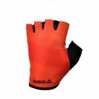 Тренировочные перчатки Reebok (без пальцев) красные