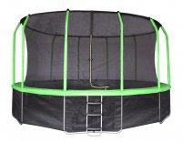 Батут Yarton 16 ft 4,88 м с сеткой и лестницей (зеленый)