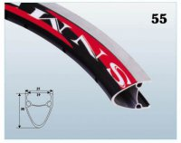 Велосипедный обод  TBS SA19A двойной 27,5x1.75-1.95 чёр./CNC 36H