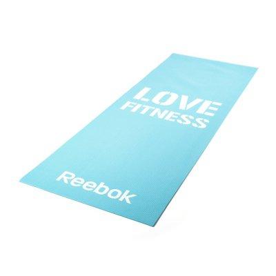 Мат для фитнеса синий Reebok Love