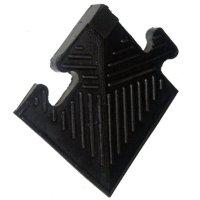 Уголок резиновый для бордюра Barbell чёрный, 12 мм