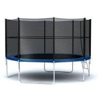Батут с внешней сеткой и лестницей Diamond Fitness External 12ft (366 см)