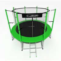 Батут i-Jump 14FT 4,27м с нижней сетью и лестницей (green)