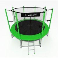 Батут i-Jump 16FT 4,88м с нижней сетью и лестницей (green)