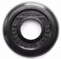 Диск обрезиненный TITAN черный 1,25 кг (51 мм)