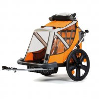 Прицеп BELLELLI для перевозки детей B-TRAVEL, оранжевый