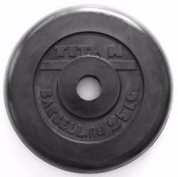 Диск обрезиненный TITAN черный 25 кг (51 мм)