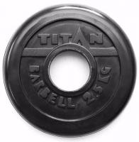 Диск обрезиненный TITAN черный 2,5 кг (51 мм)