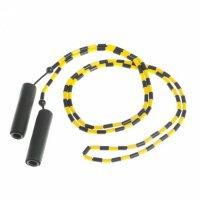 Скакалка скоростная Lifeline с бусами желто - черная