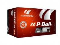 Мячи пластик Cornilleau P-BALL PRO* 40+ 72 шт. (белый)