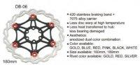 Диск тормозной BARADINE DB-06 180мм, ал. 7005/сталь, неразборный, чёрный/красный