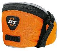 Сумка под седло SKS Base Bag S, обьём: 0,5 л, крепление с помощью ремешка, оранжевая