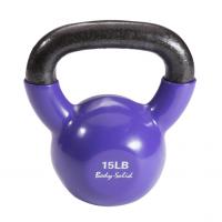 Гиря 6,8 кг (15lb) Body Solid обрезиненная фиолетовая