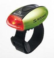 Фонарик Sigma MICRO красный, корпус зеленый